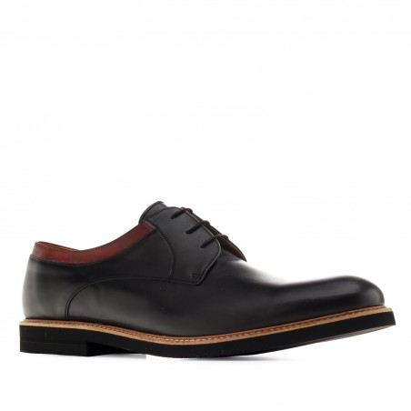 Men's Bluchers in Black Leather