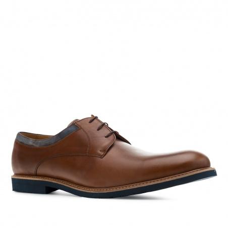 Men's Bluchers in Brown Leather
