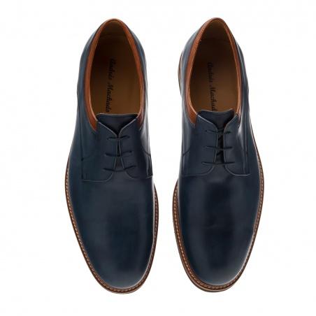 Men's Bluchers in Blue Leather