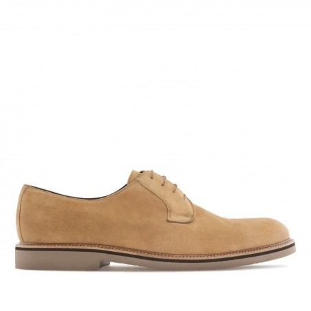Oxford Shoes in Camel Split Leather