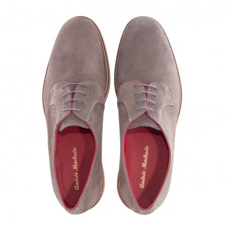 Modern Men's Shoes in Grey Split Leather