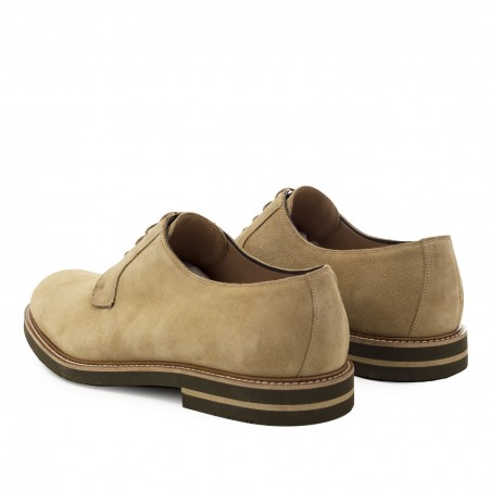 Oxford Shoes in Sand Split Leather