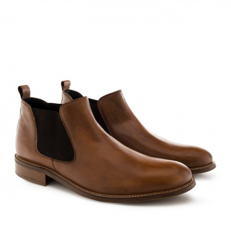 Chelsea Boots in Tan coloured Leather